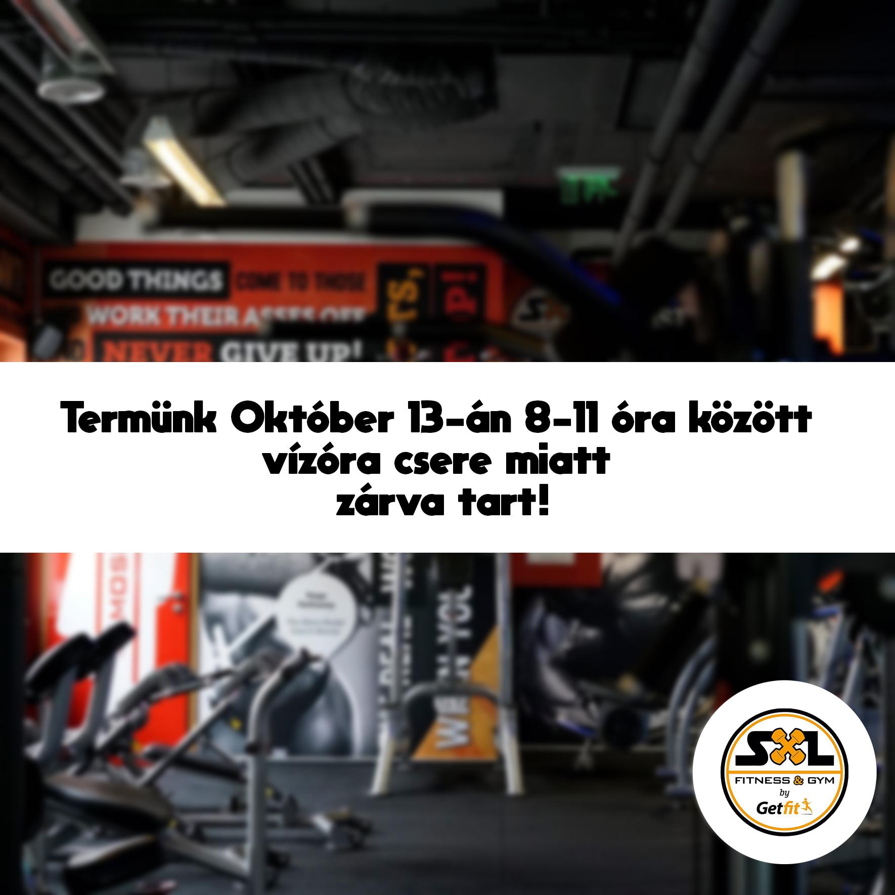 Október 13-án 8-tól 11 óráig zárva lesz a terem!